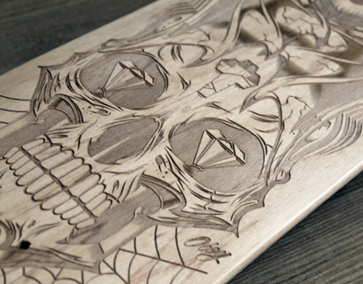 Laser-Engraved Skateboards