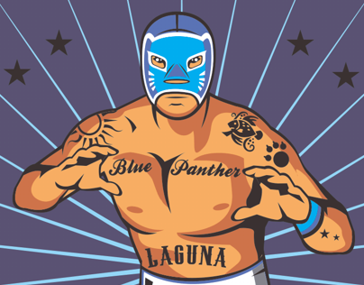 Blue Panther Master of Mexican wrestling