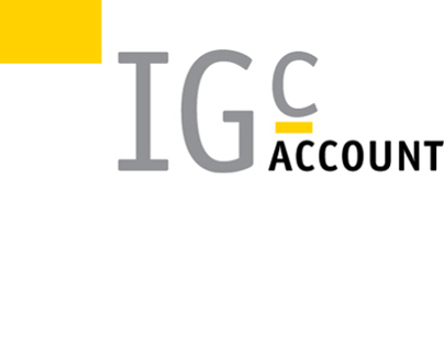Brand identity for IGC Accounting, Glasgow