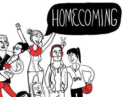 SPU homecoming marketing materials