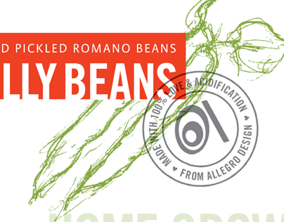 Pickled Beans: Label design