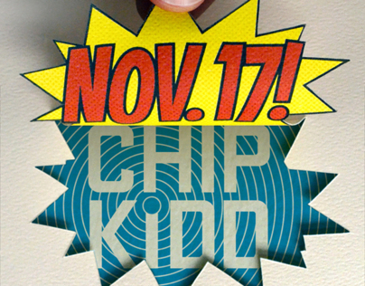 AIGA Boston / Chip Kidd event graphics