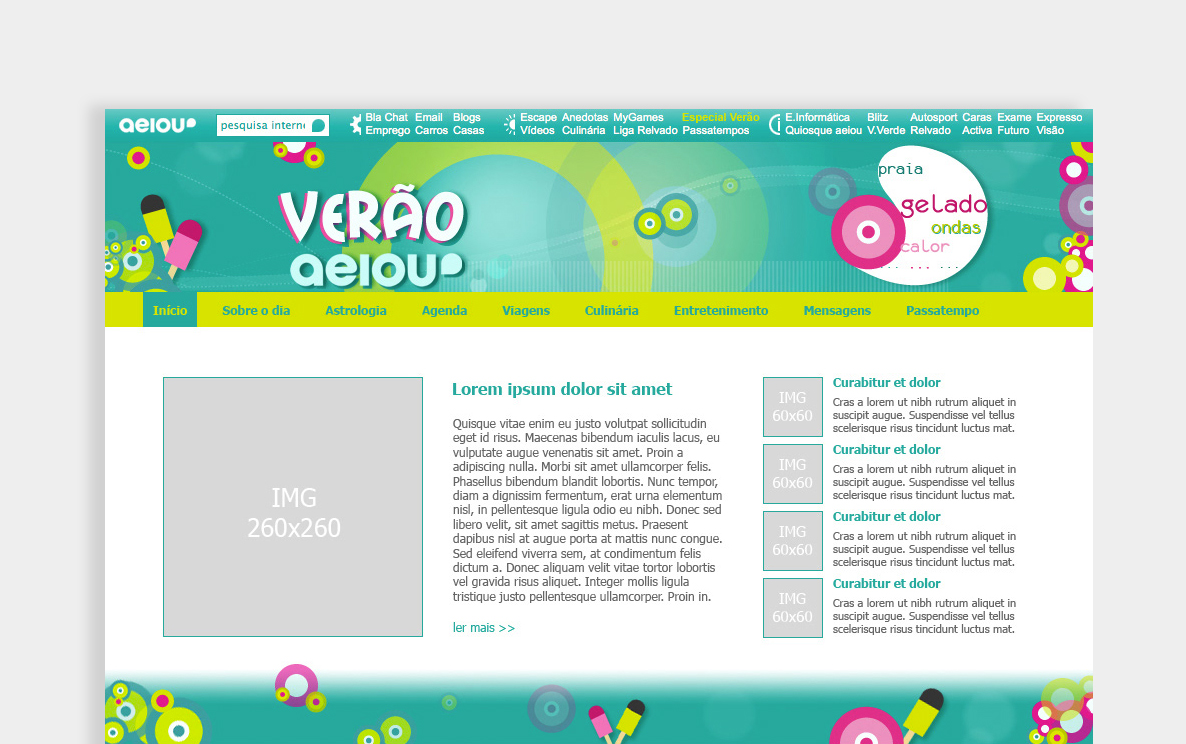 Web Design for Advertising Microsites