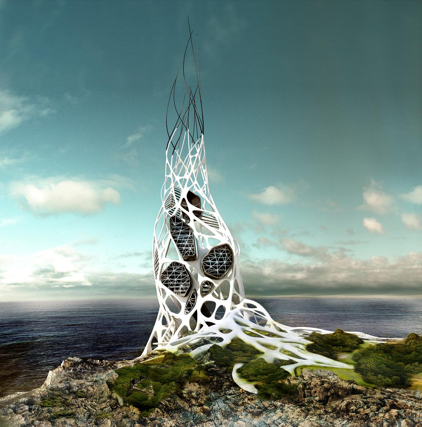 Hydra Skyscraper - Tesla research facility