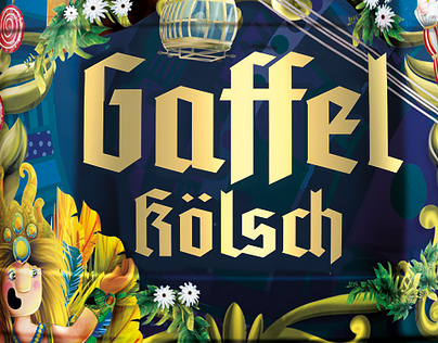 Gaffel Kölsch beer packaging