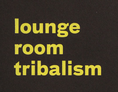 Book design | Lounge Room Tribalism