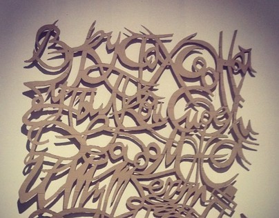 Cardboard Calligraphy. Poetry by Oleg Grigoriev