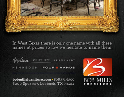 Bob Mills Furniture Ad