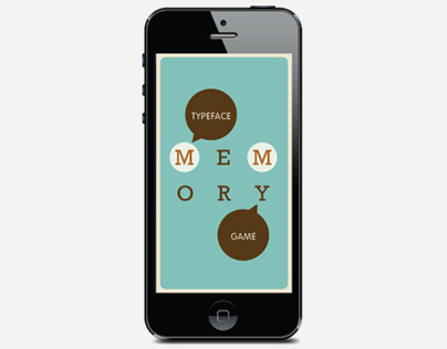 Typeface Memory Game