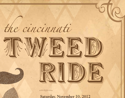 2012 Cincinnati Tweed Ride Event Poster