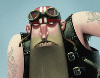 Old Biker - Character Design