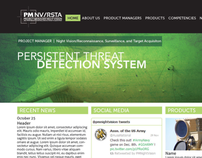 PM NV/RSTA In-progress Website