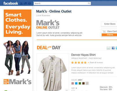 Marks Facebook Outlet Store