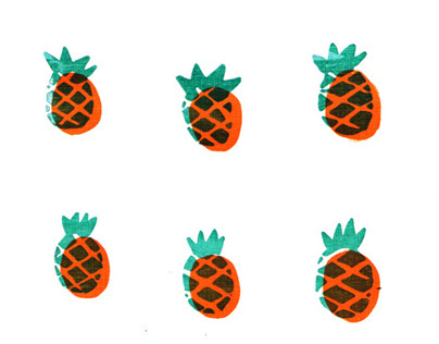 Topical fruit screen print