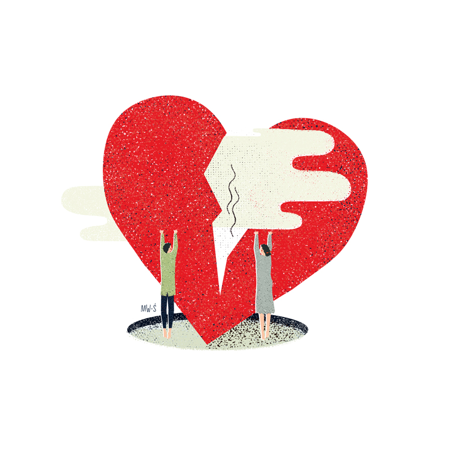 DIVORCE - ILLUSTRATIONS FR. MAGAZINE