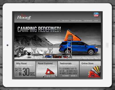 Roost Mobile Tents Branding