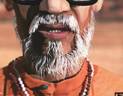 Bal Thackeray CG Portrait Tribute
