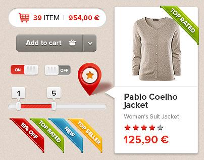 Shoppie Web UI kit