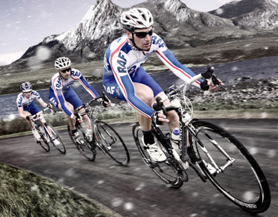 RAF Cycling Promo imagery
