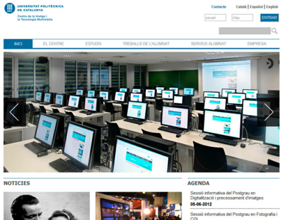 CITM WebSite Redesign in HTML5