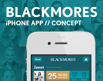 BLACKMORES iPhone App for More Campaign // Concept