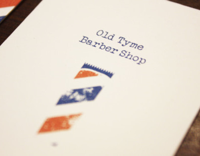 Old Tyme Barber Shop Rebranding