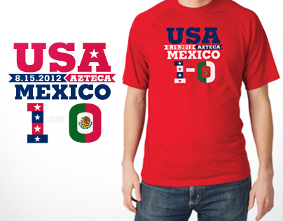 USA vs. Mexico soccer t-shirt design