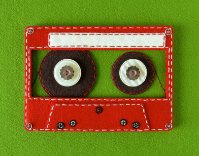 Felt Cassette Tape for They Might Be Giants iPhone App