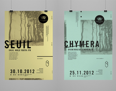 Woodstrasse Logo and Poster Series