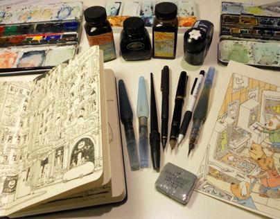 Snatched spreads 23-24 Sketchbook