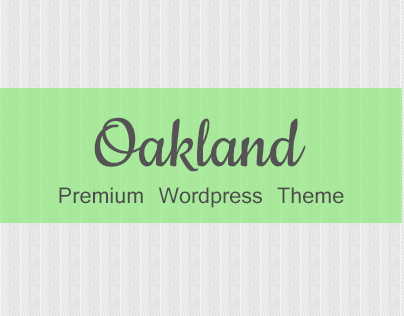 Oakland Wordpress Theme