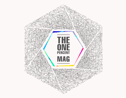 The One Percent Mag visual branding.