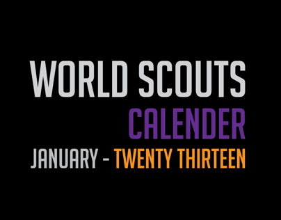 World Scouts Calendar 2013