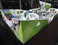 Adidas Outdoor trade show booth