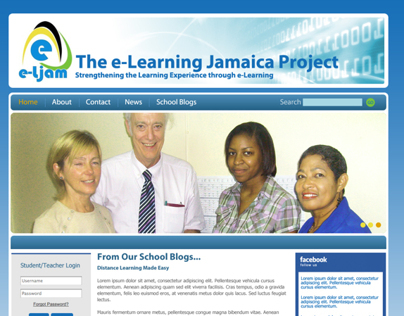 E-Learning Jamaica Project Website Design