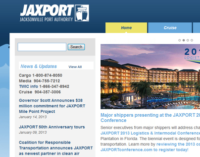 JAXPORT.com Website Redesign