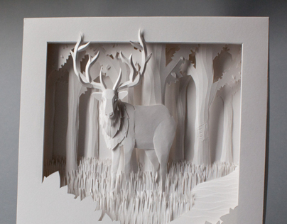 Elk Paper Sculpture