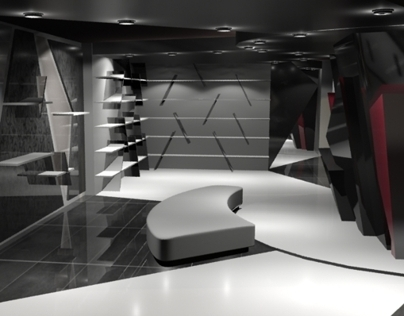 Shoes store interior