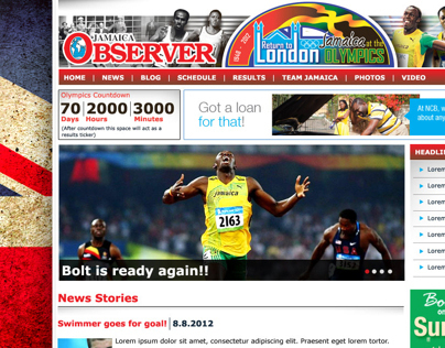 2012 Summer Olympics Coverage Website -Jamaica Observer