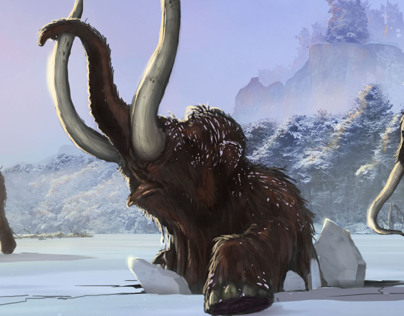 Snow Giants: Woolly Mammoths