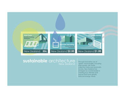 Sustainable Architecture Stamps