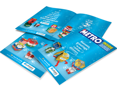 Lebara Mobile – Metro Newspaper Christmas Cover Wrap De