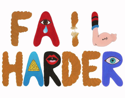 Fail Harder Hand-painted Typography