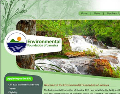 Environmental Foundation of Jamaica - Website Design