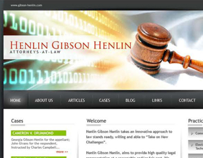 Henlin Gibson Henlin - Website Design 1