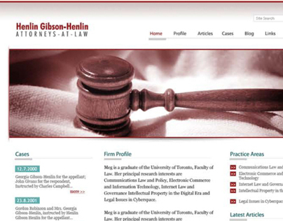 Henlin Gibson Henlin - Website Design 2