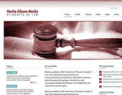 Henlin Gibson Henlin - Website Design 2