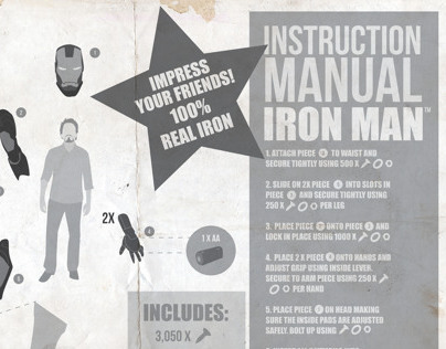 Build Your Own Iron Man Infographics