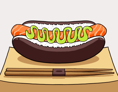 SUSHI DOG | ILLUSTRATION