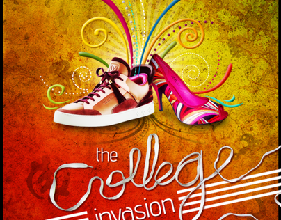 COLLEGE INVASION - POSTER